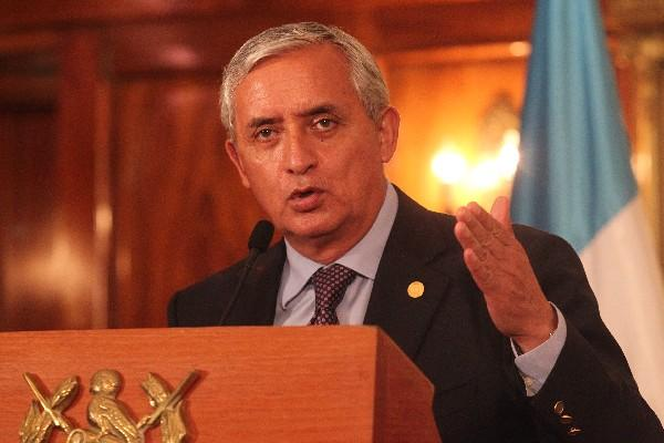 Otto Pérez Molina, presidente de la República.
