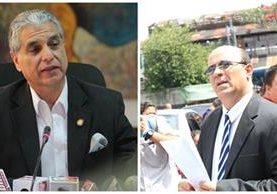 Carlos Contreras y Jorge Villavicencio, exministros de Trabajo y Salud durante el gobierno de Otto Pérez Molina, serán denunciados por la PGN. (Foto Prensa Libre: Hemeroteca PL)