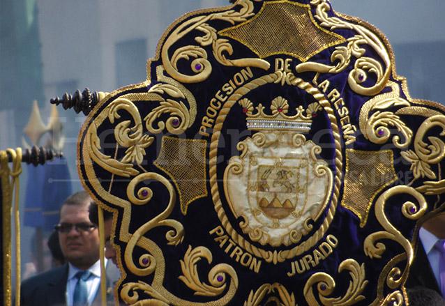 En 2014 se estrena un estandarte recordando el Patronazgo de Jesús de la Merced sobre la Ciudad de Guatemala. (Foto: Néstor Galicia)
