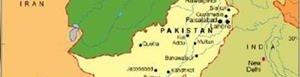 Mapa de Pakistán.