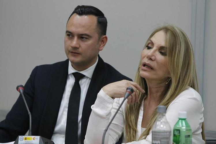 Claudia Sandra Moritza García Magaña, durante la audiencia de primera declaración en el Juzgado Cuarto Penal. (Foto Prensa Libre: Paulo Raquec)