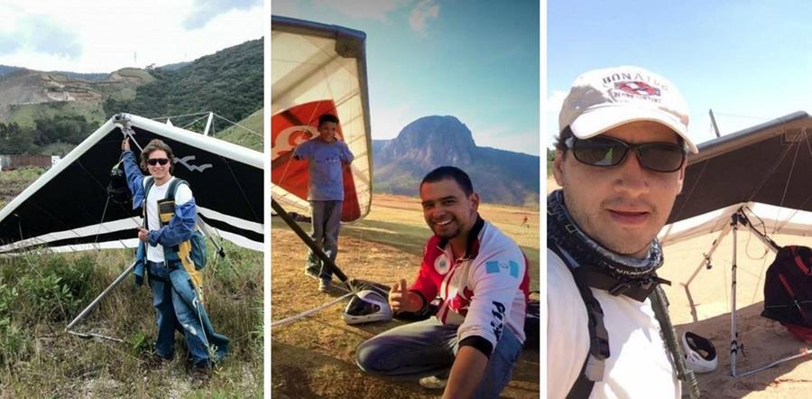 Aníbal Lemus, Carlos Alvarado y José Sandoval son los tres guatemaltecos destacados en ranking mundial de vuelo libre. (Foto Prensa Libre: Hemeroteca PL)