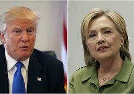 La demócrata y el candidato republicano están a dos meses de saber quién será el nuevo presidente de los Estados Unidos. (Foto Prensa Libre: Hemeroteca PL)