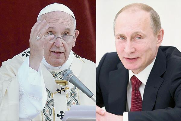 El papa Francisco recibirá a Putin el 10 de junio próximo. (Foto Prensa Libre: AFP/EFE)