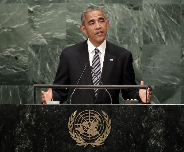 Barack Obama, (c) se dirige a los asistentes a la Asamblea General de Naciones Unidas. (EFE).
