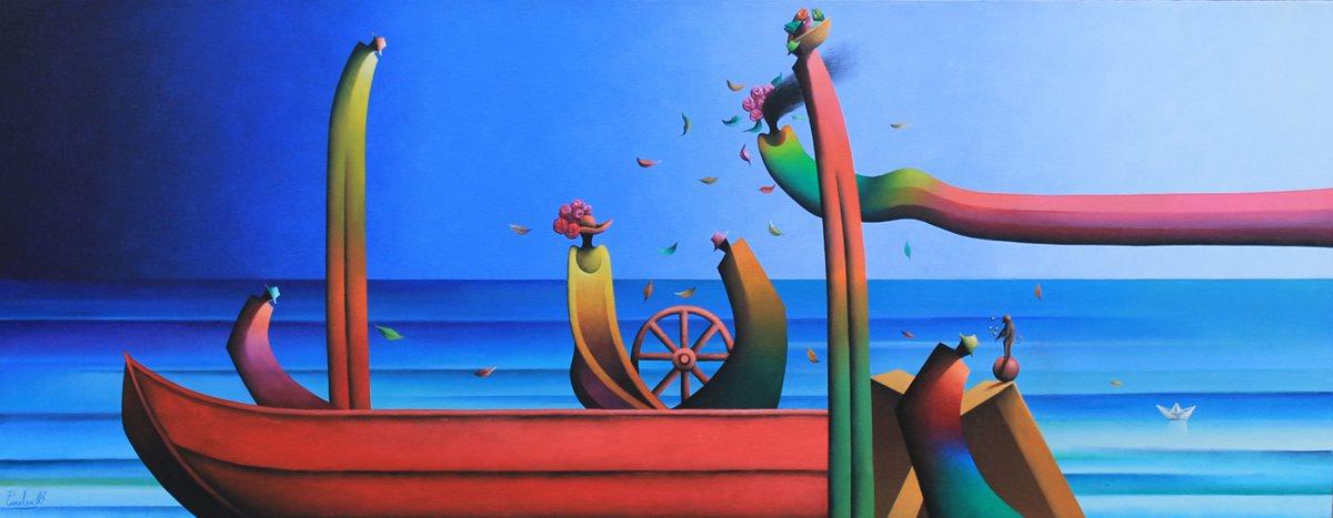 El lago de Atitlán es uno de los temas predilectos del artista visual Domingo Peneleu. (Foto Prensa Libre: Hemeroteca PL).