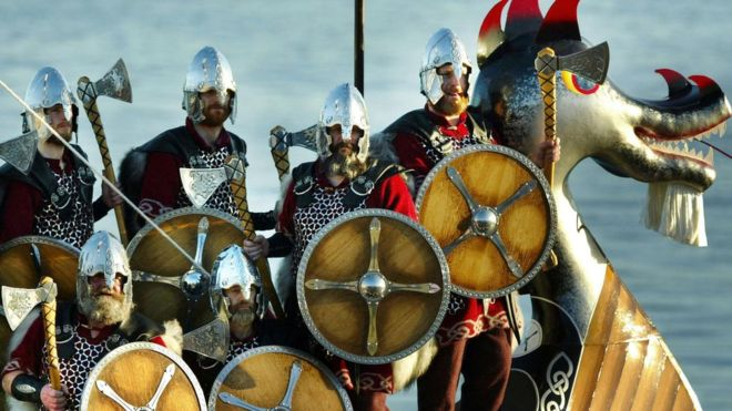 La gran mayoría de los vikingos que salía a saquear eran hombres jóvenes. PA