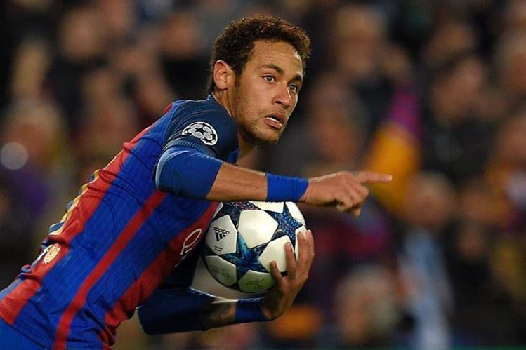 Neymar fue el artífice de la clasificación del Barcelona a cuartos de Champions. (Foto Prensa Libre: AFP)