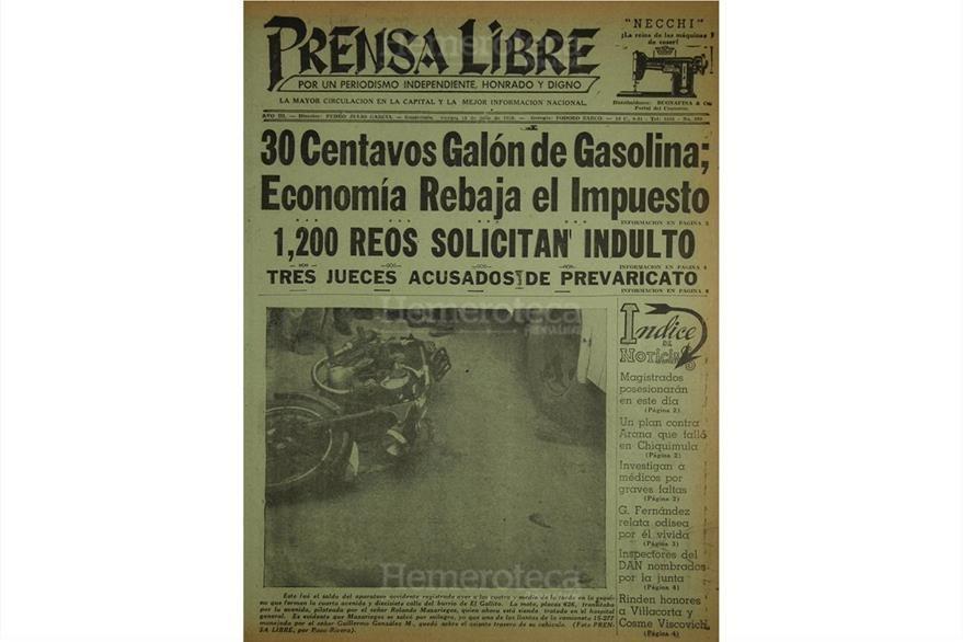 En el ya lejano 1954 el galón de gasolina costaba Q0.30. Hacia finales de esa década, llegó a Q0.45. (Foto: Hemeroteca PL)