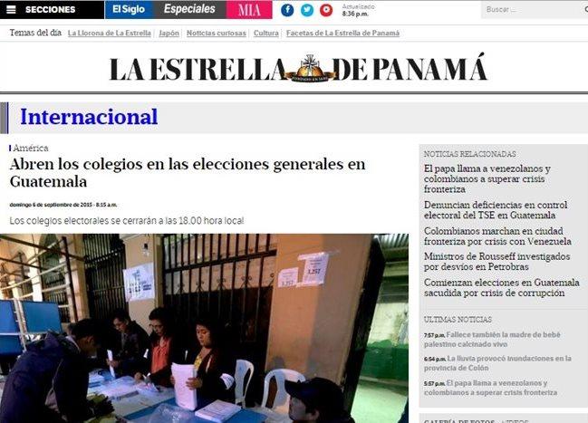 En Panamá se da seguimiento al desarrollo de las elecciones generales  de Guatemala (Foto Prensa Libre: Internet).