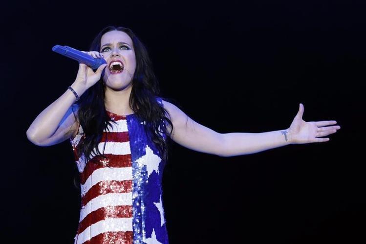 La cantante Katy Perry ya no pudo presentarse en China, lo atribuyen a Trump. (Foto Prensa Libre: AP)