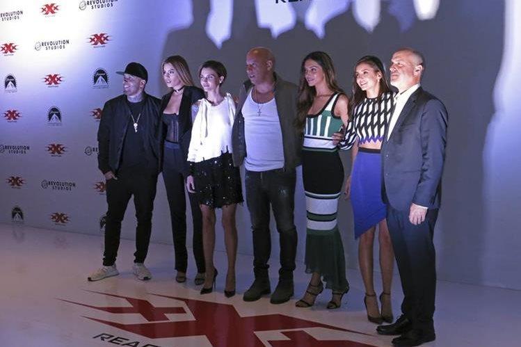El elenco de €œxXx: Return of Xander Cage estuvo en México para presentar la cinta. (Foto Prensa Libre: AP)