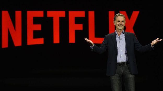 """Reed Hastings es el CEO de Netflix, """"la principal red de televisión por internet del mundo""""."""