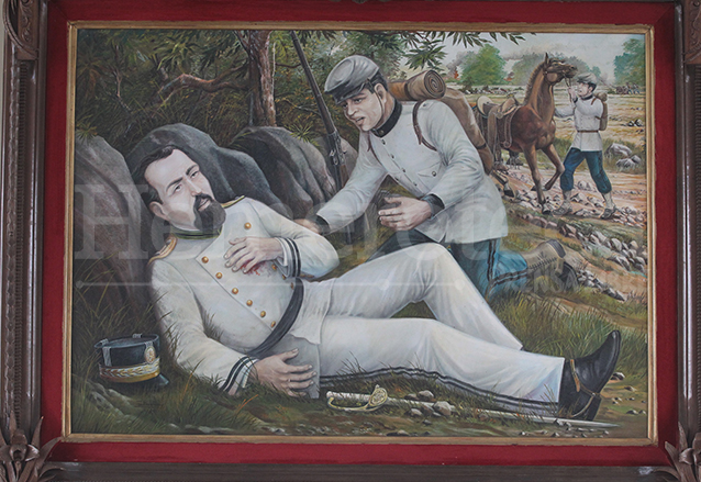 Cuadro que representa la muerte de Justo Rufino Barrios en Chalchuapa, El Salvador en 1885. (Foto: Hemeroteca PL)
