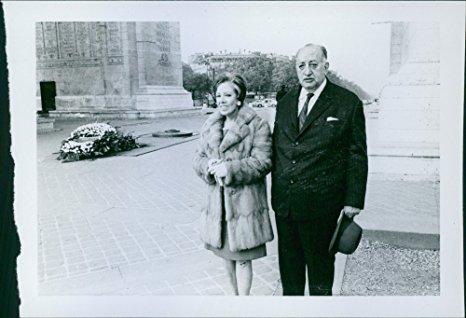 Miguel Ángel Asturias junto a su segunda esposa, Blanca Mora y Arau. (Foto Prensa Libre: Hemeroteca PL)