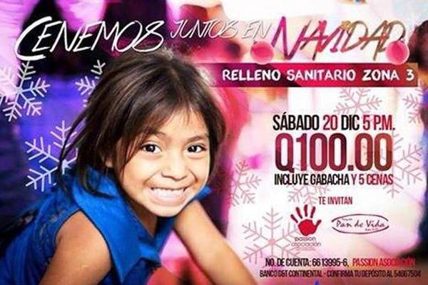 <p>Passion Asociación brindará una cena navideña para familias del basurero de la zona 3. (Foto Prensa Libre: Passion Asociación)<em></em></p>