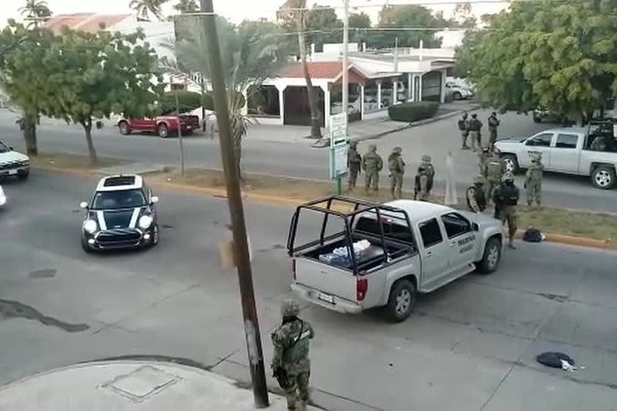 """Una calle de Los Mochis, Sinaloa, lugar donde fue detenido """"el Chapo"""" Guzmán. (AFP)"""