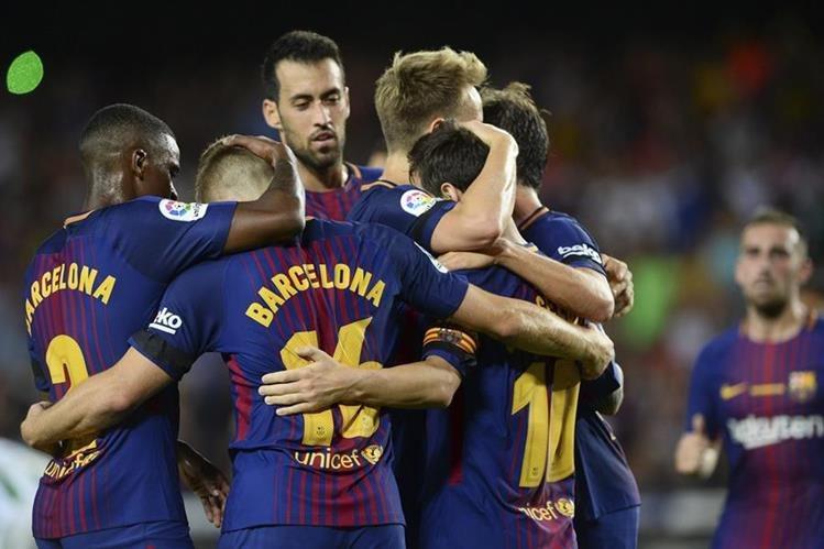 El Barcelona inició con el pie derecho la lucha por el título de La Liga. (Foto Prensa Libre: AFP)