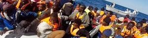 Inmigrantes rescatados.