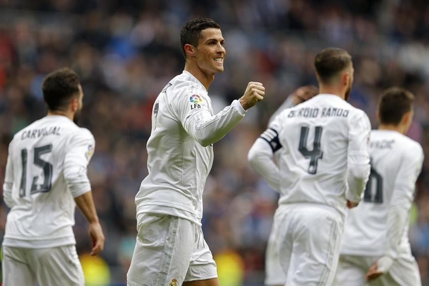 Ronaldo llegó a 27 goles con ello se consolida como el máximo artillero de todas las ligas de Europa. (Foto Prensa Libre: AP)