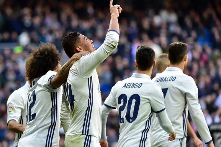 Casemiro fue uno de los anotadores para el Real Madrid esta tarde. (Foto Prensa Libre: AFP)