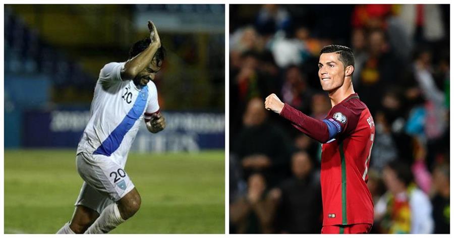 Ruiz y Cristiano tienen los mismos goles con sus selecciones. (Foto Prensa Libre)