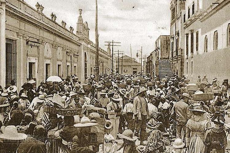 Antiguo Mercado Central a inicios del siglo XX. (Foto: Hemeroteca PL)