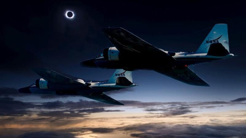 Imagen ilustrativa de la Nasa sobre la misión durante el eclipse de Sol. (Foto Nasa, del sitio deccanchronicle.com)