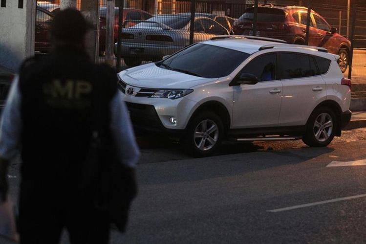 Camioneta en la que se transportaba Sindy Paz Morales. Foto Prensa Libre: Hemeroteca PL.