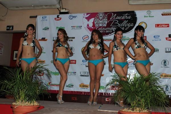 CANDIDATAs  a  concurso Nuestra Belleza Cotzumalguapa, de Santa Lucía.