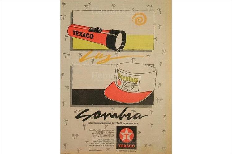 Promoción de una firma expendedora de combustibles publicada el 9 de abril de 1990. (Foto: Hemeroteca PL)