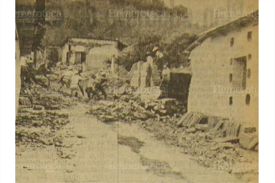 El terremoto del 4 de febrero de 1976 dejó muerte y cuantiosas pérdidas materiales. (Foto: Hemeroteca PL)