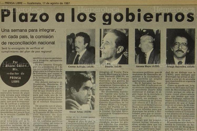 Integración de la Comisión de Reconciliación Nacional. (Foto: Hemeroteca PL)