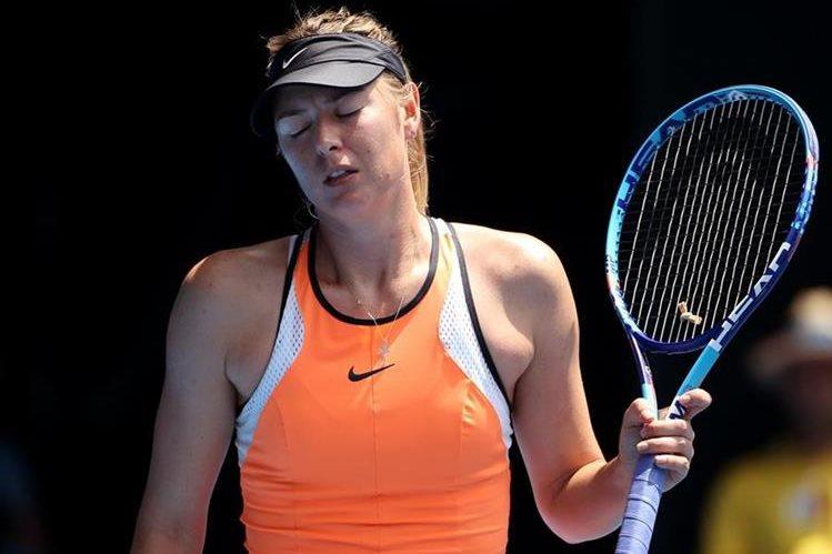 La rusa María Sharapova está suspendida de cualquier actividad oficial por haber dado positivo en controles de dopaje. (Foto Prensa Libre: Hemeroteca)
