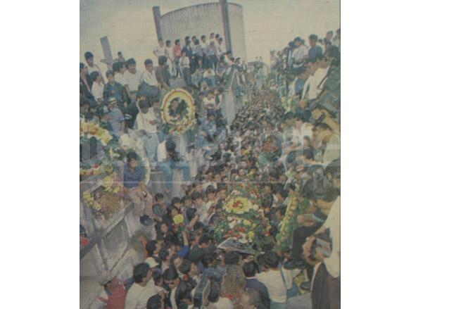 El sepelio de Mario Alioto López Sánchez en el Cementerio General fue multitudinario. (Foto: Hemeroteca PL)