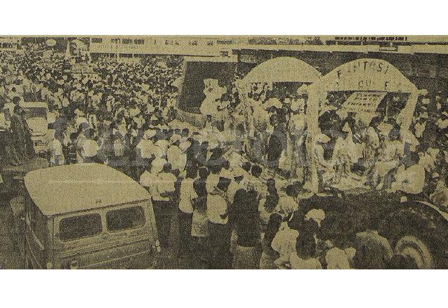 Carrozas del Carnaval de Mazatenango en 1970. (Foto: Hemeroteca PL)