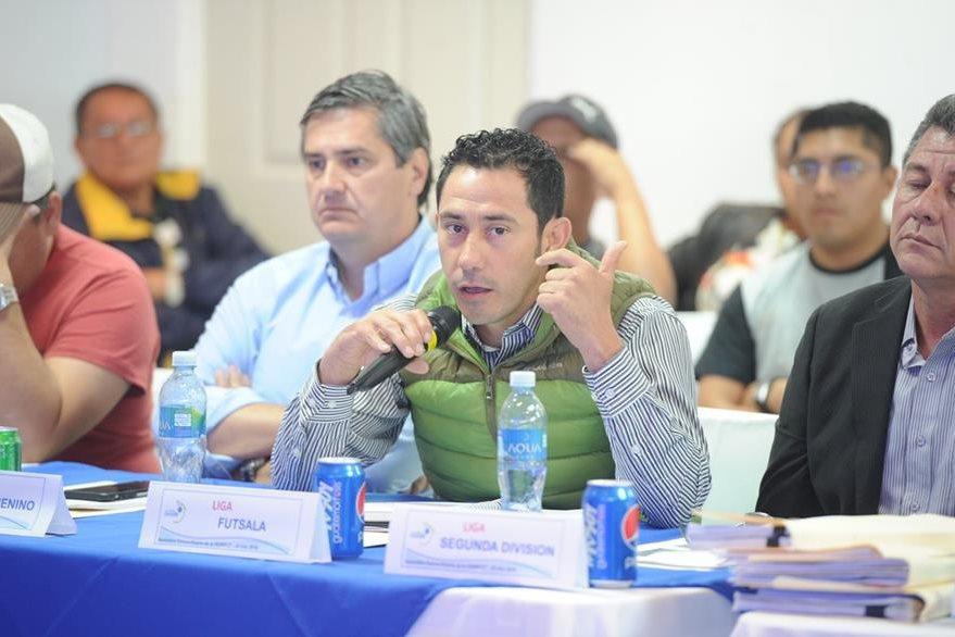 El presidente de la Liga de Futsal, Carlos Mérida no apoya la continuación del Comité de Regularización. (Foto Prensa Libre: Edwin Fajardo)