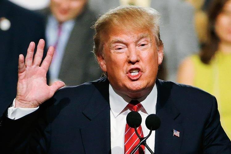 Donald Trump usó la fuga del narcotraficante Joaquín el Chapo Guzmán para incrementar sus críticas en contra de los inmigrantes. (Foto Prensa Libre: AP).