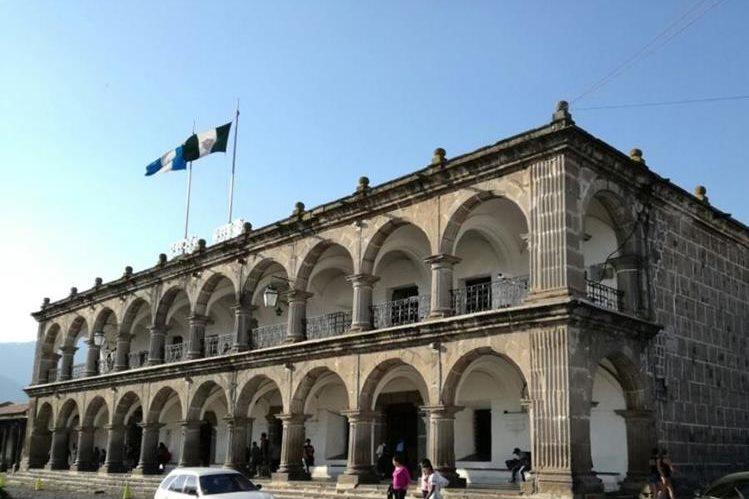 Comuna de Antigua, donde uno de los condenados desempeñó el cargo de auditor sin contar con el título correspondiente. (Foto Prensa Libre: Miguel López).