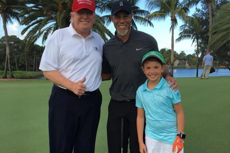 Trump y Woods se conocen desde hace varios años. (Foto Prensa Libre: Redes Sociales)