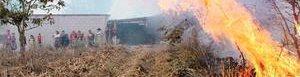 Incendio en Quiché. Foto HemerotecaPL