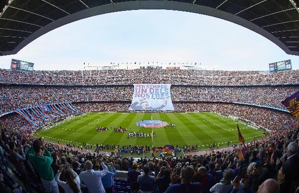 Así lucía el Camp Nou en el último juego de Luis Enrique como técnico del Barcelona.