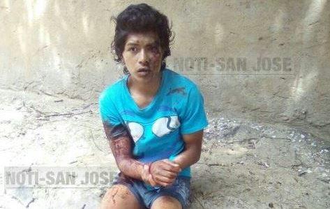 Christopher Paredes Hueso fue detenido por atacar a balazos a los policías que lo apresaron en Villa Nueva. Foto Prensa Libre: @notisanjose
