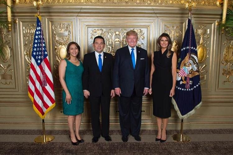 Trump y Jimmy Morales abogan por