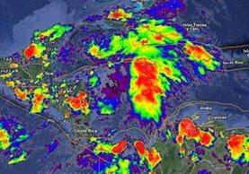 Sistema de baja presión se localiza en la parte norte de Honduras y favorecería lluvias en el país en los próximos días.