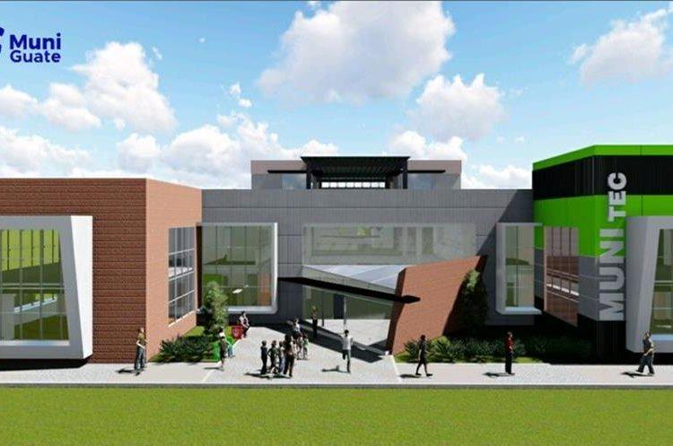 Diseño del MuniTec que la Municipalidad busca construir. (Foto Prensa Libre: Municipalidad de Guatemala)