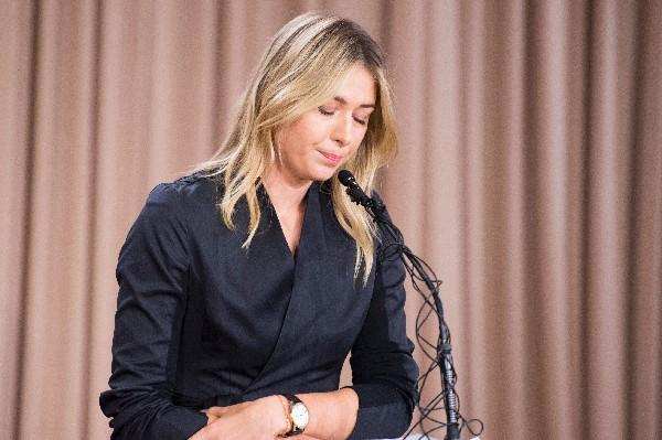 La tenista María Sharapova informó de los resultados este lunes en Los Ángeles. (Foto Prensa Libre: AFP).