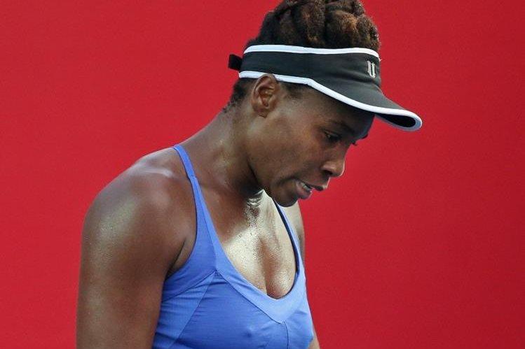 Venus Williams quedó eliminada del torneo este sábado. (Foto Prensa Libre: AP)