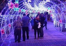 La Navidad trae la alegría de los colores en la noche