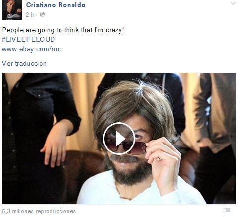 Así promocionó Cristiano Ronaldo, el nuevo video. (Foto Prensa Libre: Facebook)